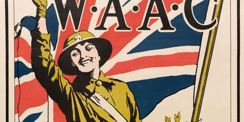 Recruiting poster, Women's Army Auxiliary Corps, 1918