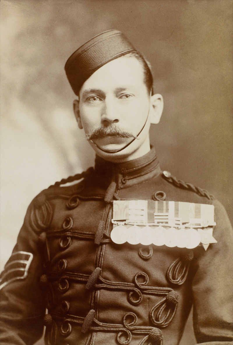 Regimental Sergeant Major Arthur Harrington Soldiers