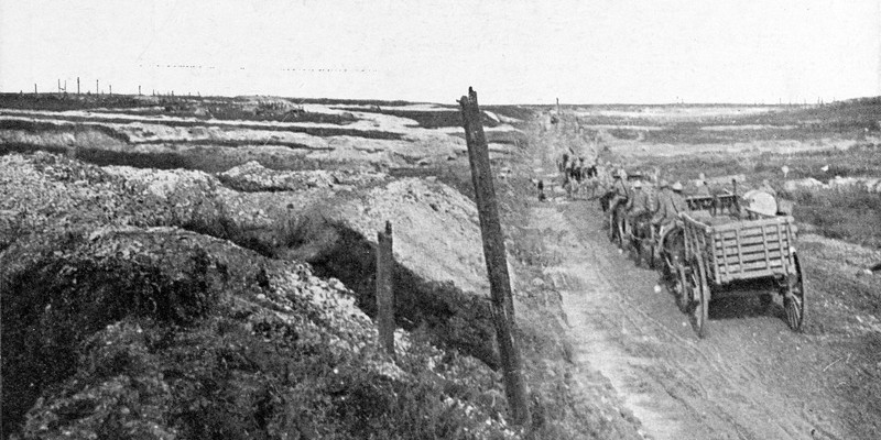 The battlefield on the first day of the Battle of the Somme, 1 July 1916