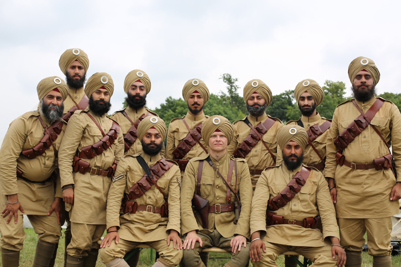 NAM's volunteer 15th Ludhiana Sikh Regiment at History Live!, Kelmarsh Hall, July 2014