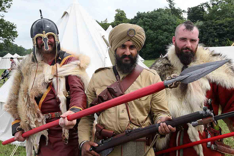 Roman troops at the Regiment's base camp, History Live!, Kelmarsh Hall, July 2014