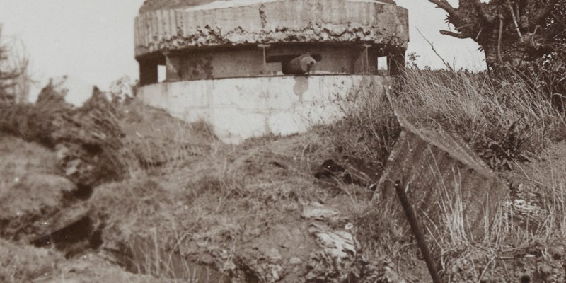 'Formidable Hun pill-box at Bullecourt: scene of sanguinary fighting during the Battle of Arras', 1917