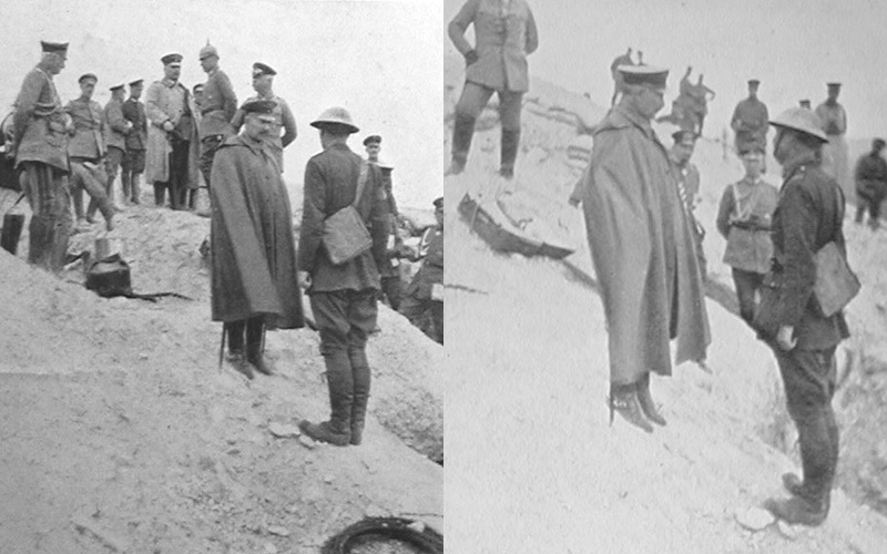 Brigadier-General Hubert Rees interviewed by the German Emperor, Kaiser Wilhelm II, on the Craonne Plateau, France, 28 May 1918