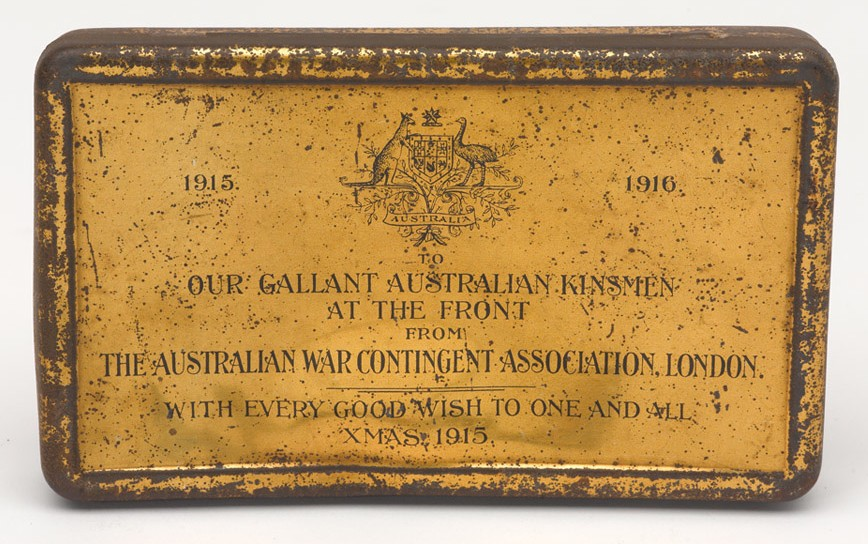 Christmas gift box sent to Australian troops, 1915