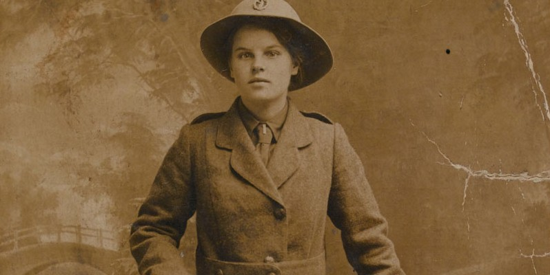 Margaret Selina Caswell in uniform, Women's Legion, 1916