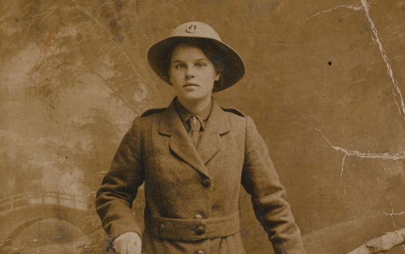 Margaret Caswell in uniform, Women's Legion, 1916