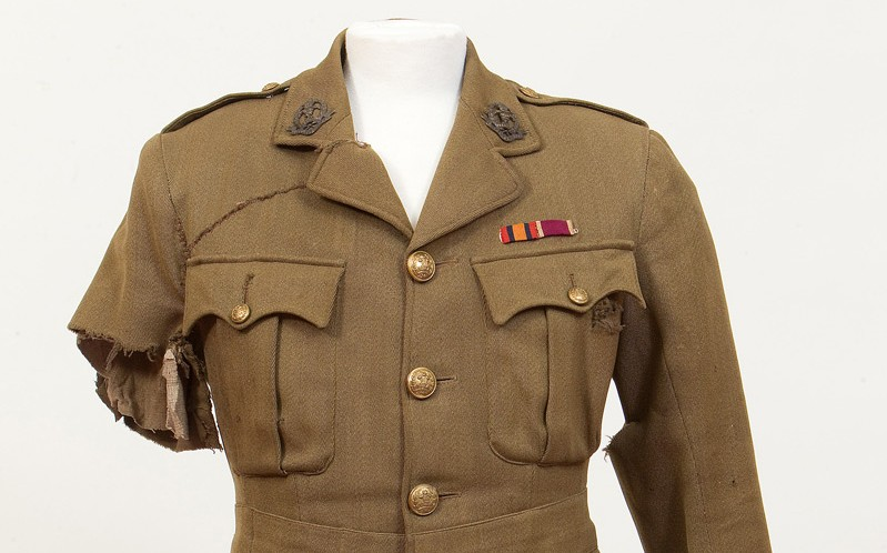 Service tunic worn by Captain George Johnson, 2nd Battalion, The Duke of Cambridge's Own (Middlesex Regiment) on 1 July 1916