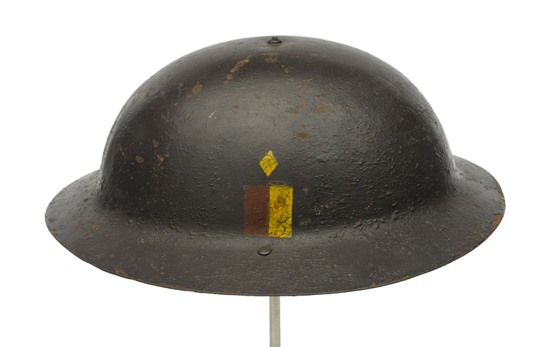 British Brodie pattern steel helmet, 1916