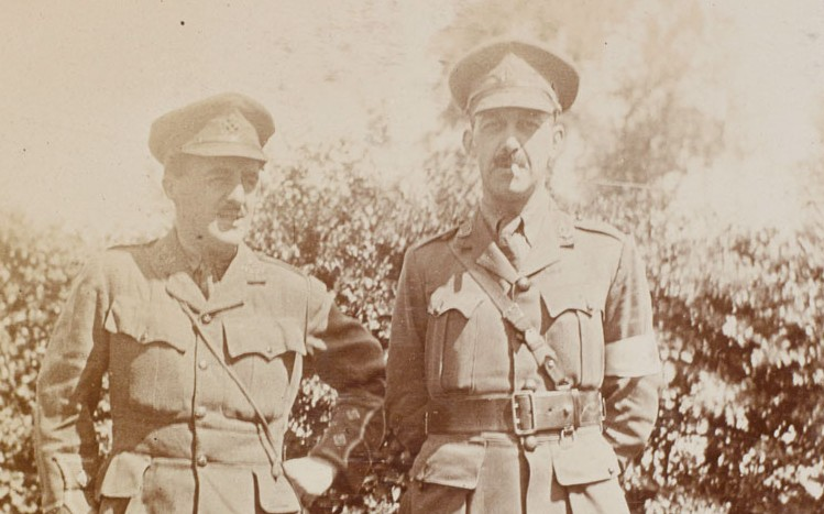 Lieutenant-Colonel Howard Dent (right) with a colleague, 1915