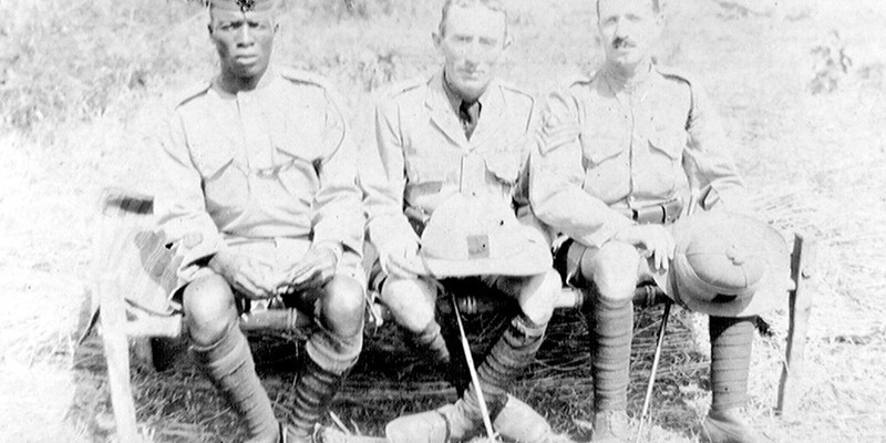 Officer and non-commissioned officers of The King's African Rifles, c1917
