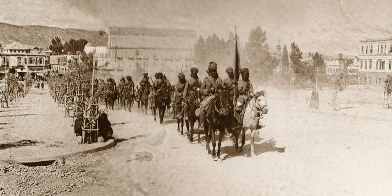 9th Hodson's Horse in General Chauvel's march through Damascus, 1918