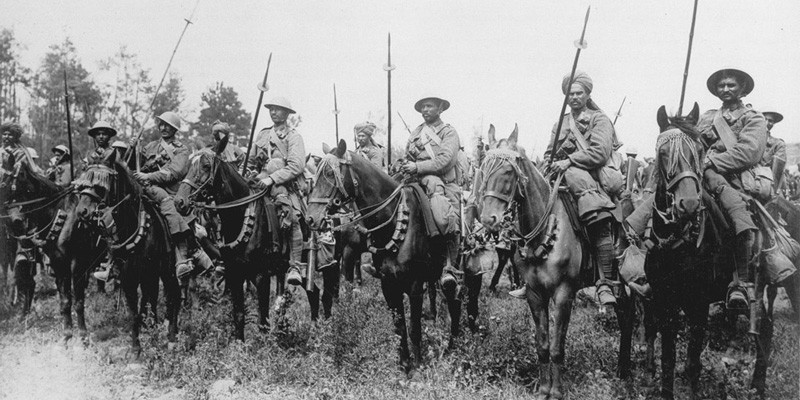Indian cavalry await the order to advance on the Somme, 1916