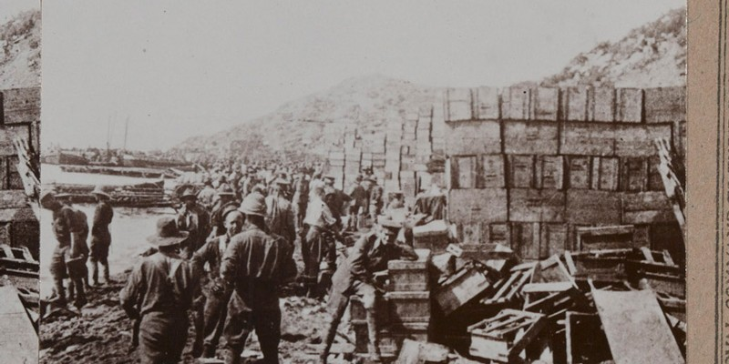Supplies at Anzac, 1915