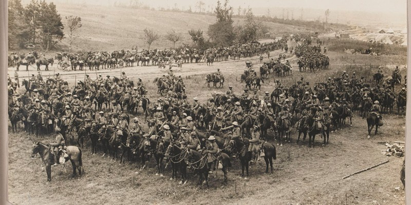 18th King George's Own Lancers in 'Sausage Valley' near Mametz, Somme, 15 July 1916