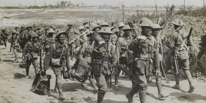 Soldiers of 2nd Australian Division returning from the trenches, September 1916