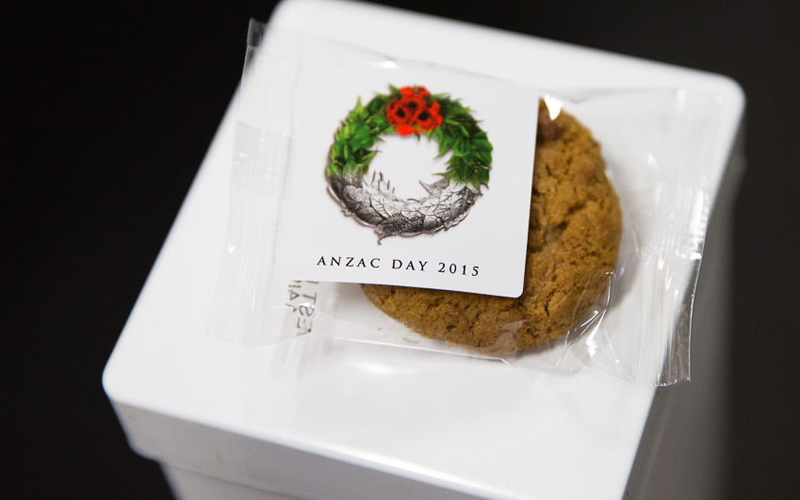Anzac biscuits served at Pukeahu National War Memorial Park, New Zealand