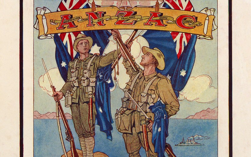 Image from the 'Anzac Book', written and illustrated by the men who served at Gallipoli, and published in 1916
