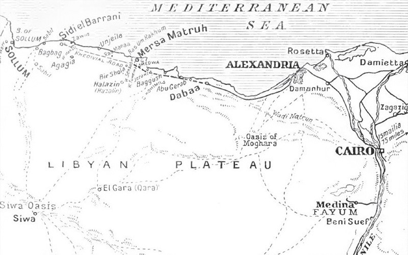 British military operations, Western Desert, Egypt, 1915–16