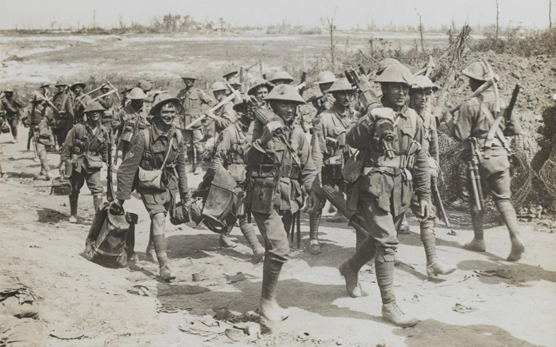 Men from the 2nd Australian Division on the Somme, September 1916