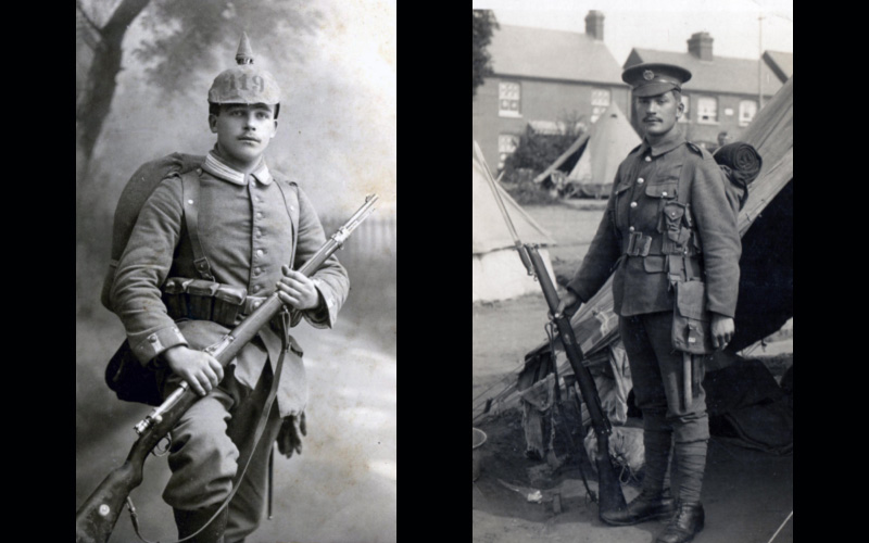 Fritz (NCO of IR 119 (Württemberg)) and Tommy (Private, Essex Regiment)