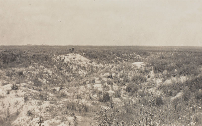 The landscape around the Hohenzollern Redoubt, c1919