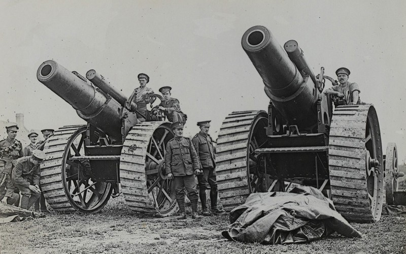 8-inch howitzers at La Houssoye on the Somme, August 1916