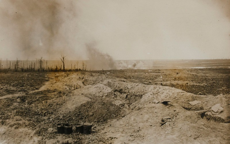 Bombardment near Trones Wood, September 1916