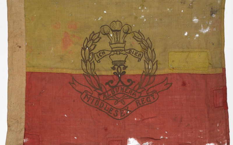 Flag carried during the assault on Thiepval by 12th Battalion The Duke of Cambridge's Own (Middlesex Regiment), 26 September 1916