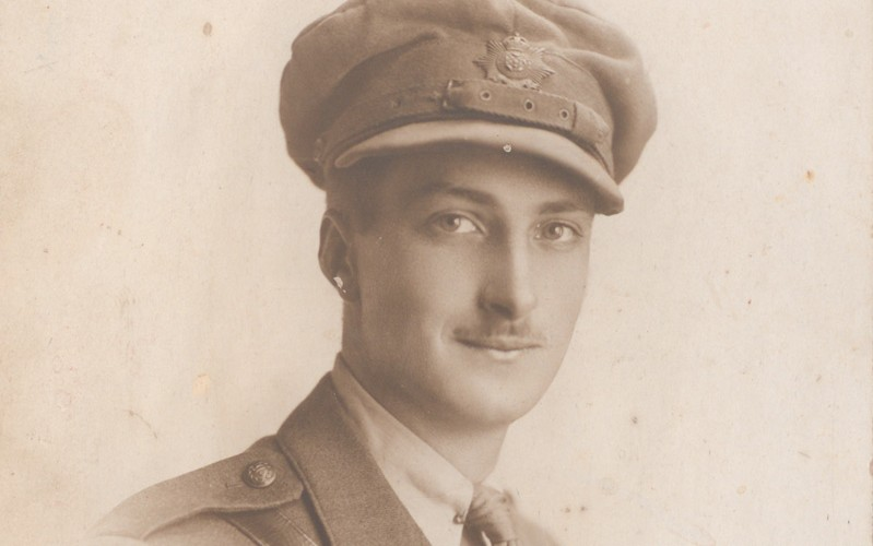 Second Lieutenant Eric Hall, 2nd Battalion The Hampshire Regiment, c1915