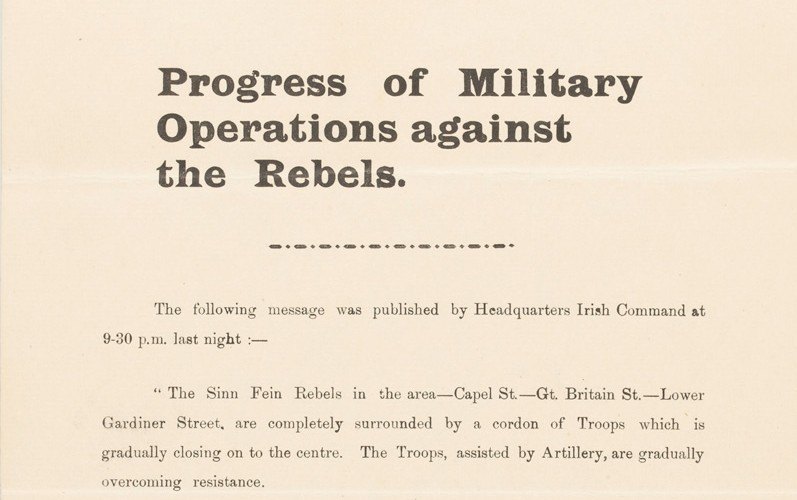 'Progress of Military Operations against the Rebels'