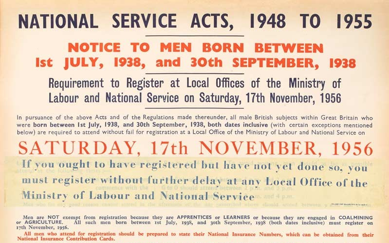 National Service Acts, 1948 to 1955