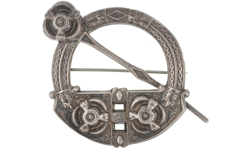 Celtic plaid brooch taken from the body of a rebel by Lt M S Payne, Lincolnshire Regiment