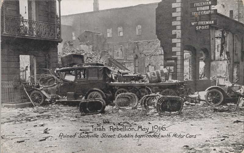 Ruined Sackville Street, Dublin, 1916