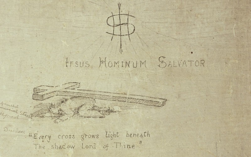 'Every cross grows light beneath The shadow Lord of Thine' c1916