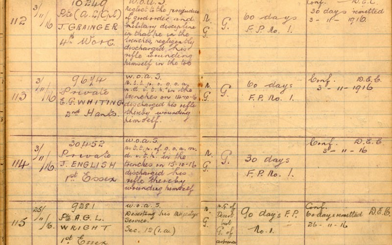 Field General Court Martial Book of the 88th Brigade, 21 September 1915 to 4 April 1917