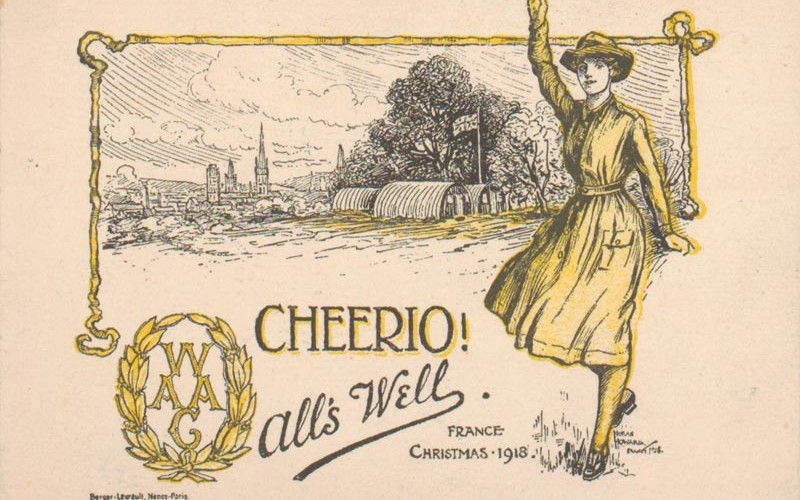 Women's Army Auxiliary Corps Christmas card from 1918