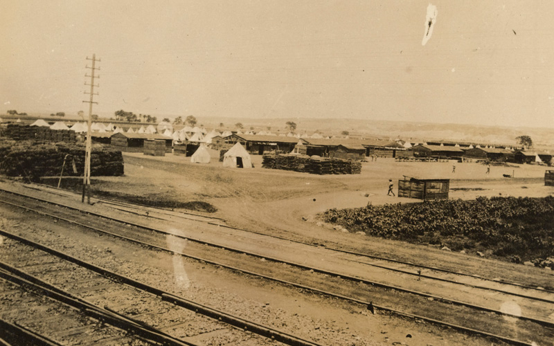 Joseph's photograph of his camp at Minia, Egypt, 1916
