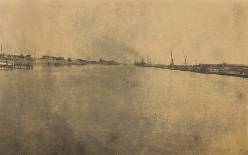 Joseph's photograph of the Suez Canal, taken in 1916