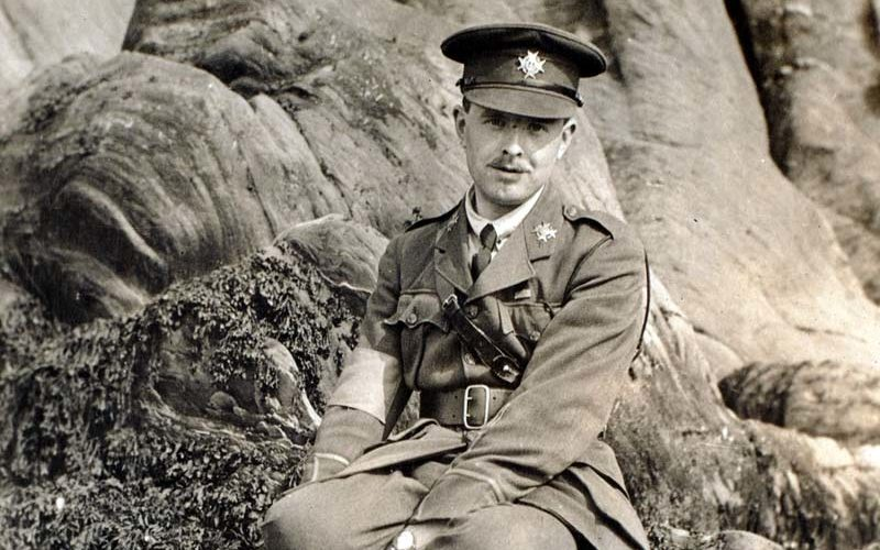 Second Lieutenant Cyril Edwards recovering from his wounds at Ilfracombe in 1918