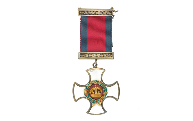 Distinguished Service Order awarded to Second Lieutenant Cyril Edwards, 1917