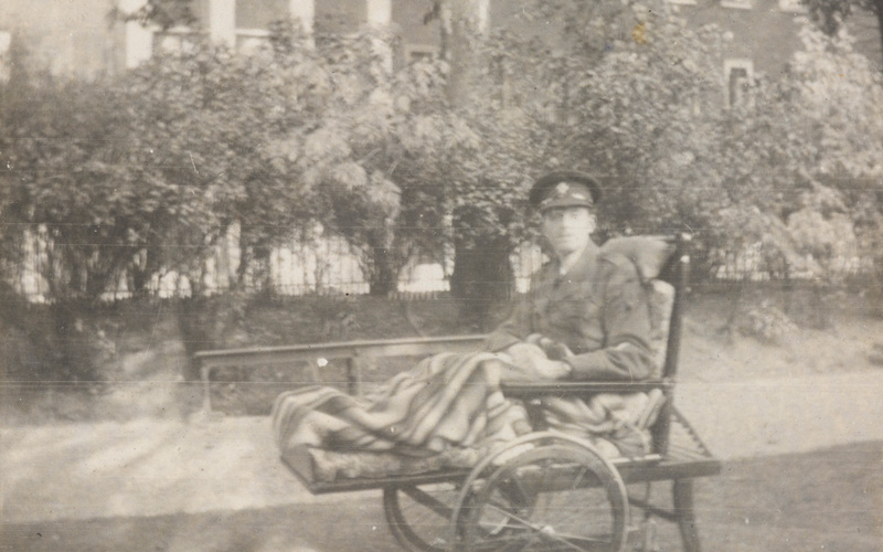 Cyril in a wheelchair during his recovery at Endsleigh Palace Hospital, Autumn 1917