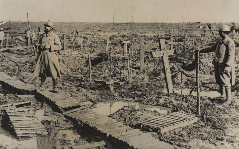 Graves at Passchendaele, 1917