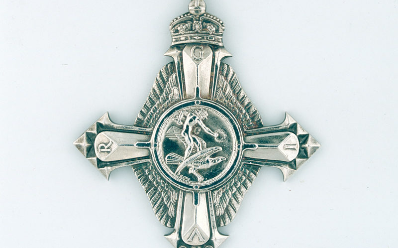 Air Force Cross awarded to Major Oliver Stewart, Royal Flying Corps, 1918