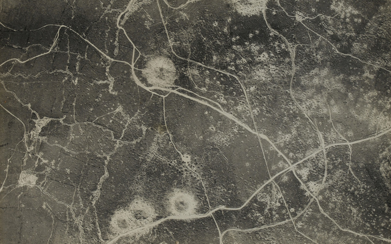An aerial photograph of a section of the Western Front, 30 September 1917