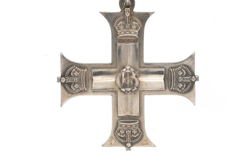 Military Cross awarded to Lieutenant Oliver Stewart, Royal Flying Corps, 1917