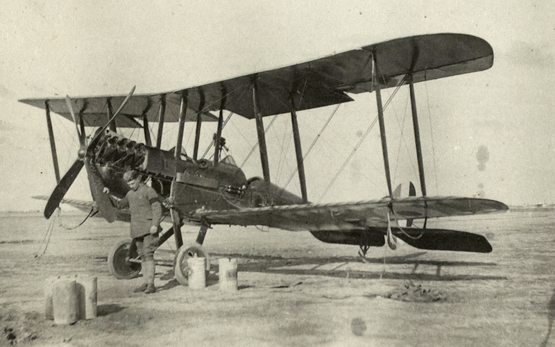 A BE2c, one of the types of aircraft Stewart ferried, c1917