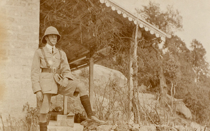 Lieutenant Walter Bagot-Chester in India, c1910