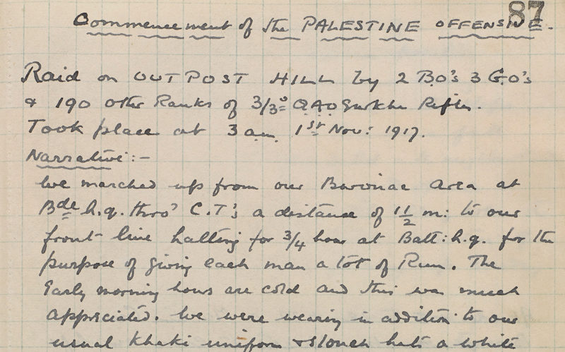 Diary of Captain Walter Bagot-Chester covering the period 19 October 1916 to 1 December 1917 in Egypt and Palestine