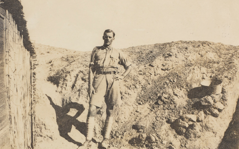 Captain Walter Bagot-Chester in Palestine, 1917