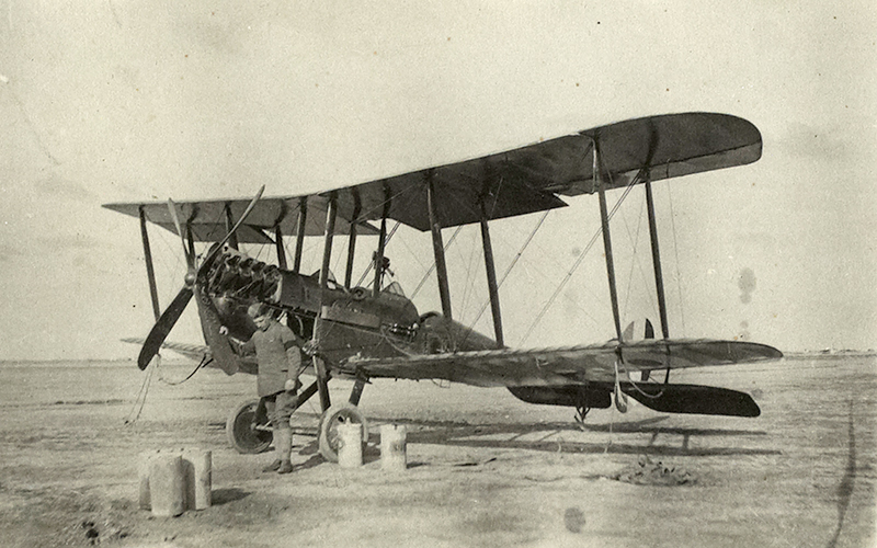 The BE2C aircraft that flew Leith-Ross around Mesopotamia during his intelligence and surveying duties, c1918